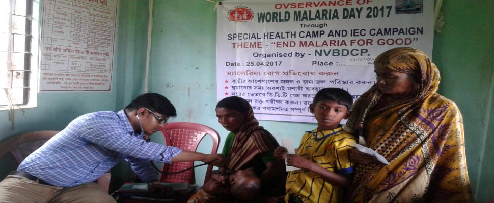 World Malaria Day - Awaressness programme and Health camp under Sepahijala District