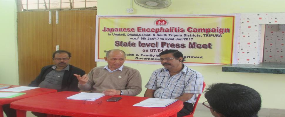 State level Press Meet on JE campaign